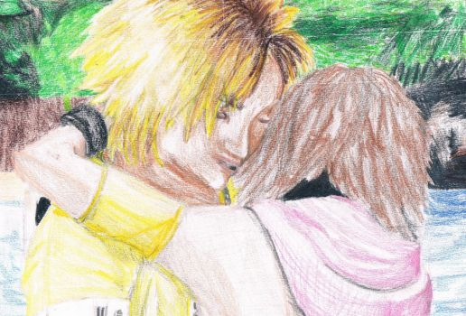 Tidus and Yuna by moonOgirl