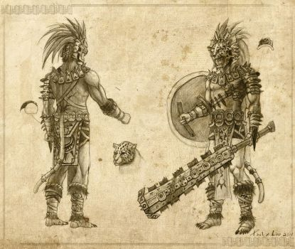 Aztec Jaguar by creative-horizon