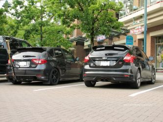 WRX Vs ST by SeanTheCarSpotter