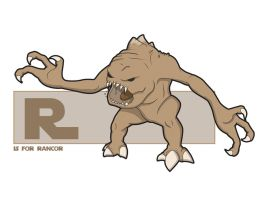R is for Rancor by jksketch