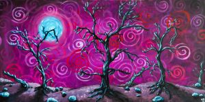 Spiral Trees (Large) by Mad-Willy