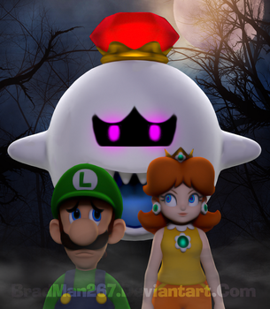 Luigi and Daisy: King Boo Encounter by BradMan267