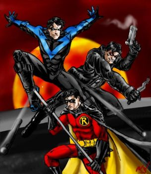 Trio of Robins by RamonVillalobos