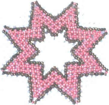 Beaded star by mary991