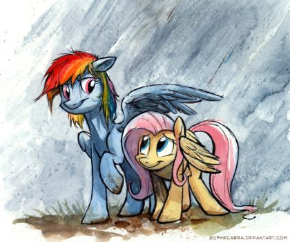 Sketch - Rainbow Umbrella by SpainFischer