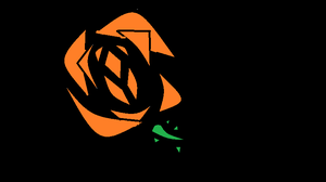 orange rose by emmabaka