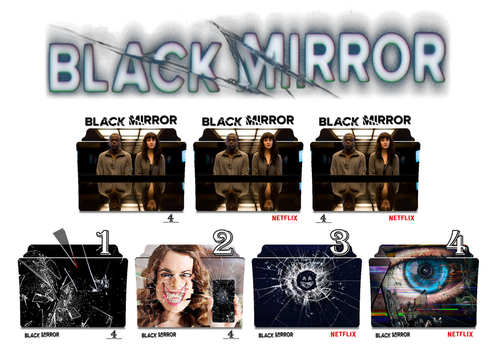 Black Mirror series and season folder icons by Vamps1