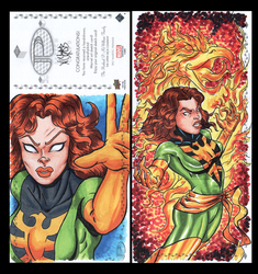 Phoenix Marvel premiere sketch card by comicsINC