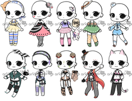 [OPEN 2/10] Casual/Lingerie Outfits by aridesunya