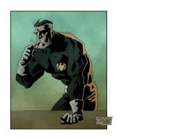 Nick Fury after breakfast... by julioferreira