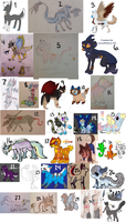Old Character Sale- ALL MUST GO by nightliqhts