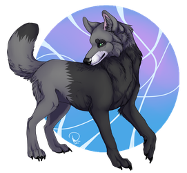Realistic Lonewolf_colored lineart by SolitaryGrayWolf