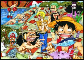 One Piece: Strong World by elleinead