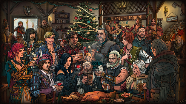 Witcher 3 New year 2016 by Maxifen
