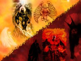 Heaven and Hell by Deus-Mageron