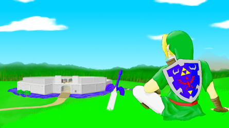 Ocarina Of Time's Cartoony Hyrule by JesterDK