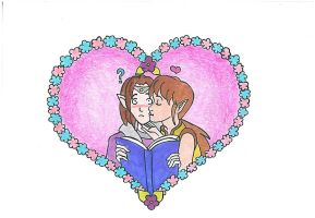 The Reading Kiss by AnneMarie1986