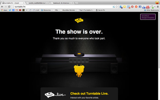 R.I.P. turntable.fm 2011-2013 by brianlechthaler