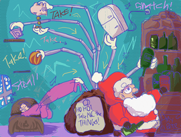 The Nights Santa went Crazy by BubbleDriver