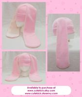 Pink Long Eared Bunny Hat by cutekick