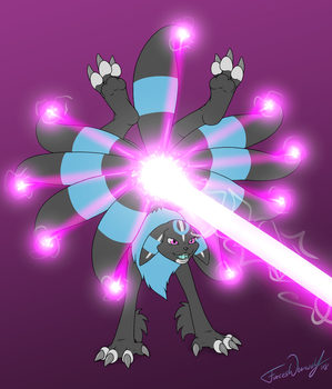 Poke/Digi Fusion - Rose the Umbrenamon - LaserBeam by ForcesWerwolf