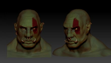 Orc Head by touchedbyred