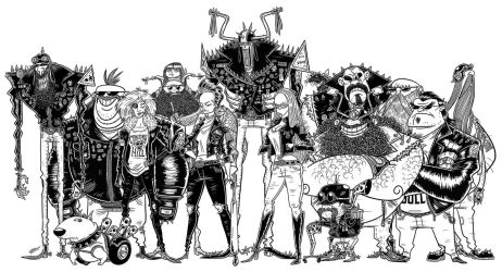 BIKERS SKETCHES by GrievousGeneral