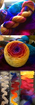 Colorado Sunset - Hand Dyed Yarn by Kariosa-Adopts