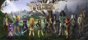 All my original characters ! by Diddha