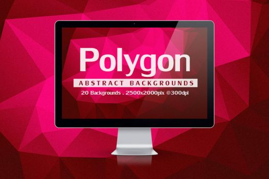 20 Abstract Polygon Backgrounds by graphiccon