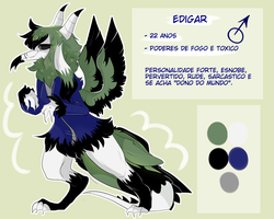[GIFT] ---- Edigar's simple ref sheet by Alroura