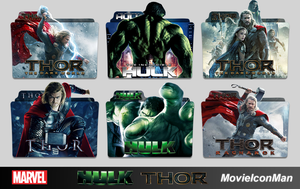 Thor and Hulk Movies Folder Icon Pack by MovieIconMan