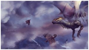 Flying with friends ~ Dragon's Land by Ellysiumn