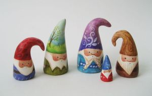 big NOM gnomes by merwing