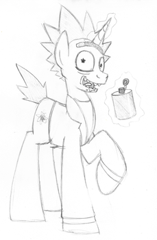 Rick and Morty MLP Crossover by artwork-tee
