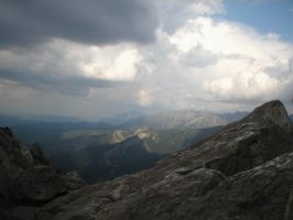 Landscape stock 62 mountains by Finsternis-stock