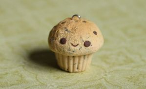 Chocolate Chip Clay Cupcake Charm (Tutorial) by xoxRufus