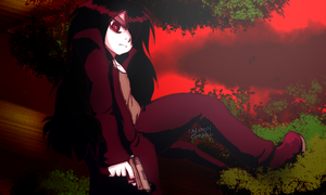 Relaxing under the crimson sky by CalimonGraal