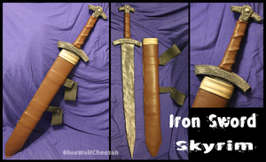 Prop: Iron Sword from Skyrim by BlueWolfCheetah