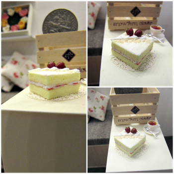 1-12 Square Strawberry Cake by Snowfern