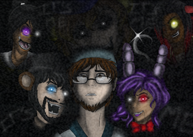 FIVE NIGHTS AT FREDDYS -final poster- by BLACKBLOOD-QUEEN