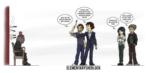 Elementary/Sherlock PIN UP: Target Practice by maryfgr23