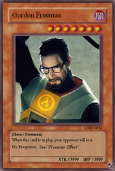 Gordon Freeman card by EyeInTheSky118