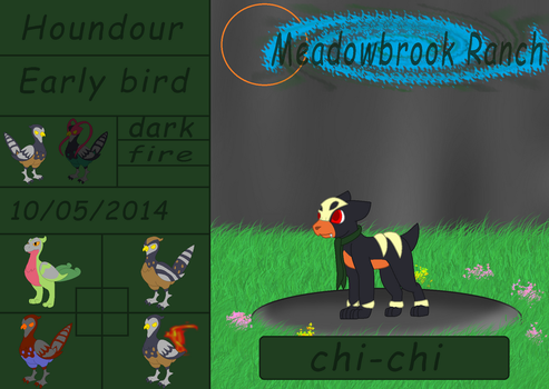 Chi-chi The Houndour by millemusen