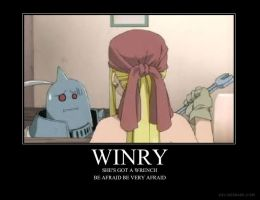 Winry's got a wrench by kirbygirl4223