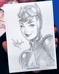 Catwoman skecth by WarrenLouw
