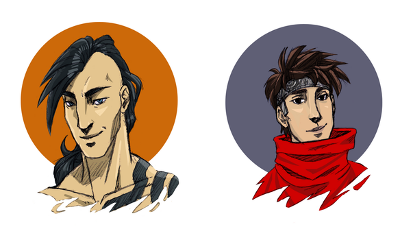 Simple Icons   Daken and Wiccan by Lokipitch