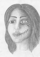Other face (pencil) by Destinaetus