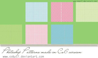 Dotts and Squares Photoshop Patterns. by Coby17