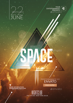 Hispter Psd Flyer Template / SPACE